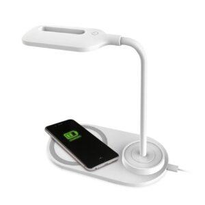 lampara dock base cargador smartphones inalambrico qi platinet blanco