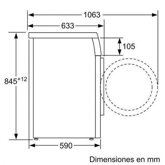 siemens iq wuutxes lavadora carga frontal kg a acero antihuellas especificaciones