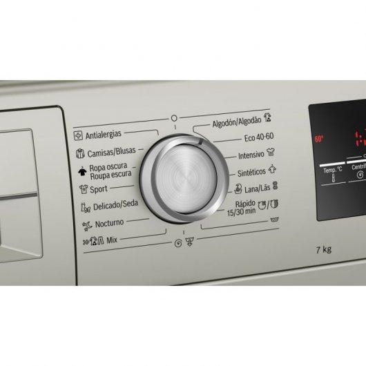 bosch wanxes lavadora de carga frontal kg a plata inox beec  b f abddca