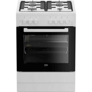 beko fsedw cocina de gas  zonas horno electrico blanca review
