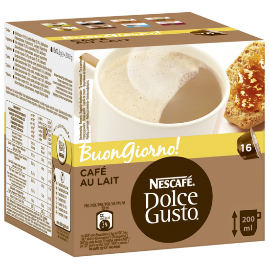 Estuche Dolce Gusto Cafe Au Lait 16 Cap