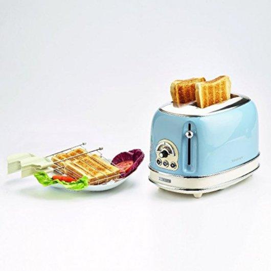 ariete   tostador vintage  ranuras w azul comprar