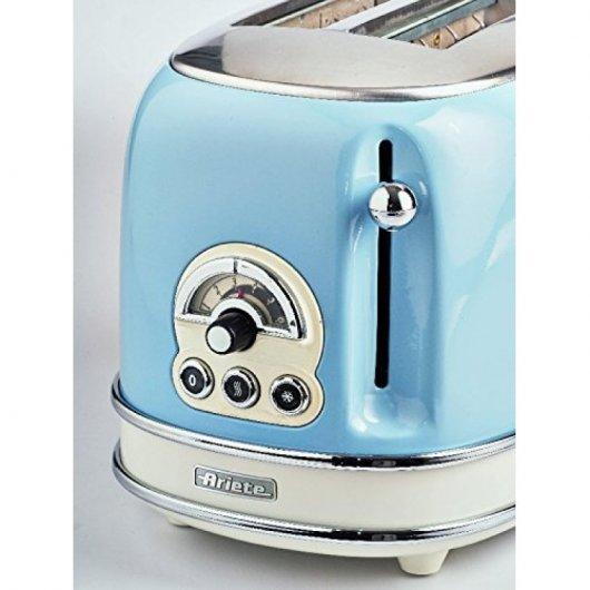 ariete   tostador vintage  ranuras w azul mejor precio