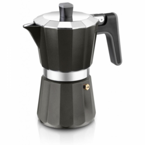 Cafetera BRA Perfecta Aluminio12T Negro