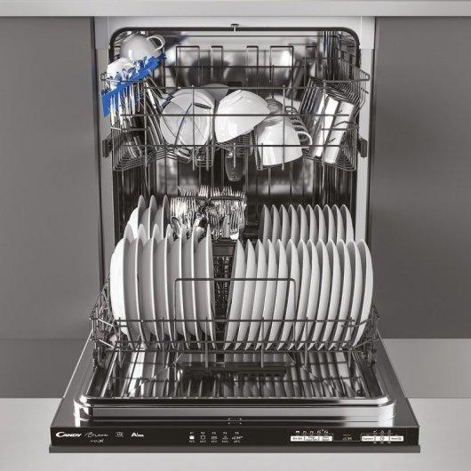candy brava cdin lpb lavavajillas integrable capacidad  cubiertos a comprar