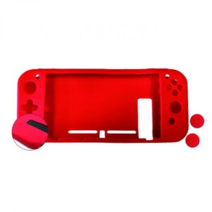 nuwa funda silicona antideslizante roja  grips film protector de pantalla para nintendo switch