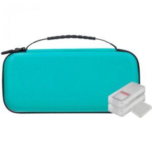 nuwa funda antigolpes azul  estuches de juegos tarjetas para nintendo switch lite