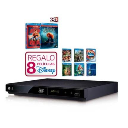 Blu-Ray LG BP325 3D USB smartv + 8 Peliculas