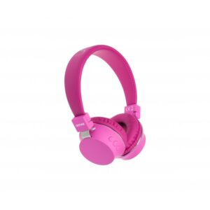 auriculares denver bth  pink bluetooth