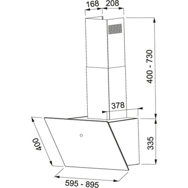 mepamsa cuadro  campana decorativa cm blanca especificaciones