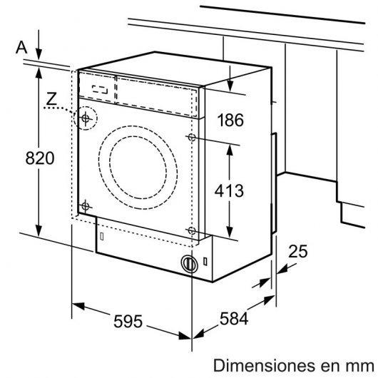 balay twb lavasecadora integrable carga frontal kg kg b blanca foto