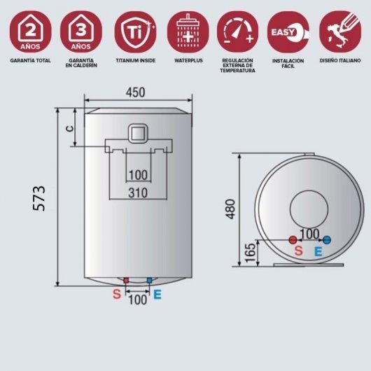 ariston pro r termo electrico vertical l c especificaciones