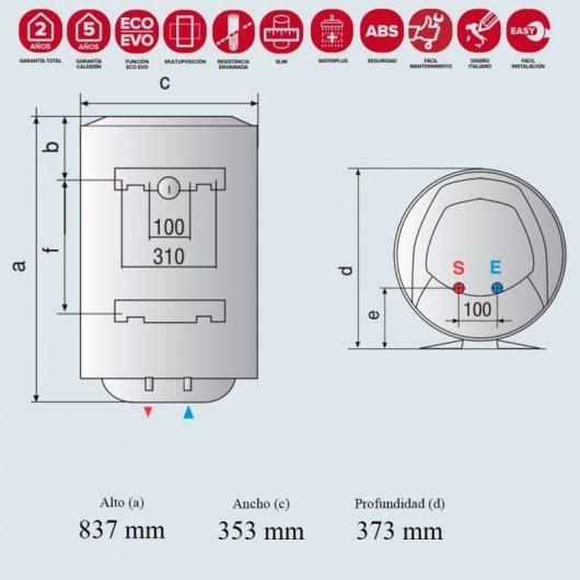 ariston pro eco dry multis termo electrico multiposicion l b comprar