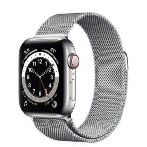 apple watch series  gps cellular mm acero inoxidable en plata pulsera milanesa loop plata
