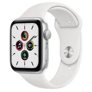 apple watch se gps mm aluminio en plata con correa deportiva blanca