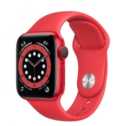 apple watch series  gps cellular mm aluminio product red con correa deportiva roja