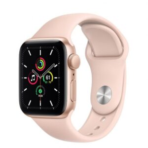 apple watch se gps mm aluminio en oro con correa deportiva rosa arena