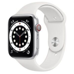 apple watch series  gps cellular mm aluminio en plata con correa deportiva blanca