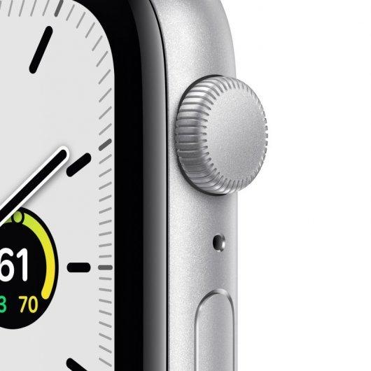 apple watch se gps mm aluminio en plata con correa deportiva blanca especificaciones
