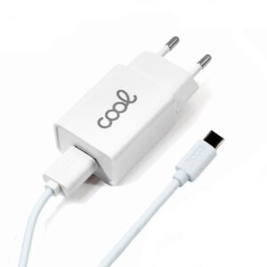 cargador red conector tipo c amp universal cool kit  en  blanco  min