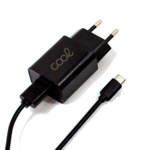cargador red conector tipo c amp universal cool kit  en  negro  min