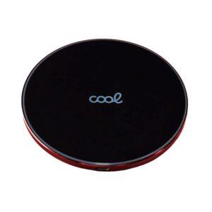 dock base cargador smartphones inalambrico qi universal cool carga rapida negro borde rojo