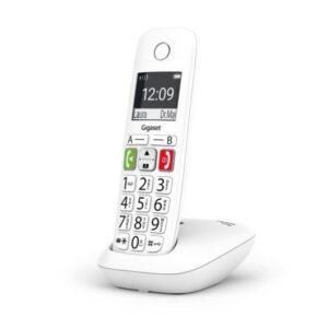 gigaset e telefono inalambrico teclas grandes blanco especificaciones