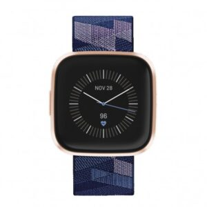 smartwatch fitbit versa  se nfc azul y rosaaluminio rosa cobre