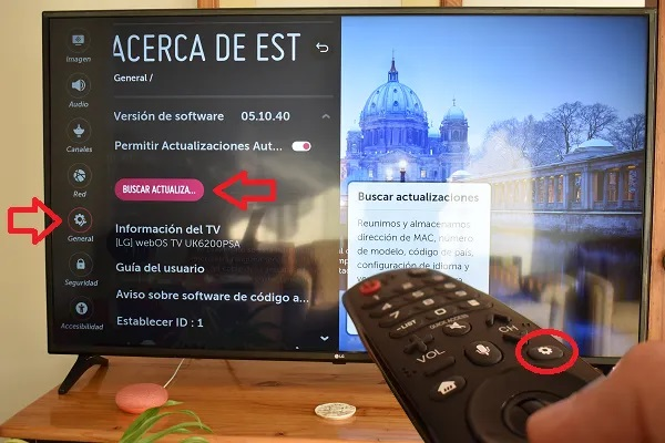 como actualizar software tv