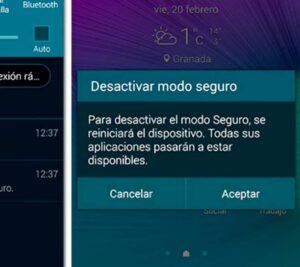 la mejor forma de desactivar modo seguro en Samsung